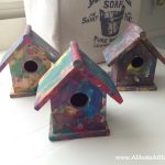 Kids craft painted birdhouse