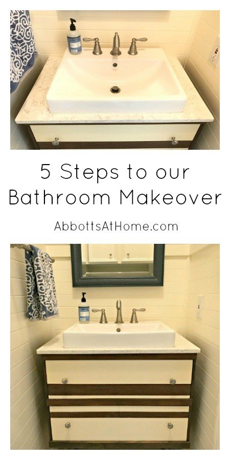 5 Steps to a Bathroom Makeover. #powderroom #bathroom #makeover