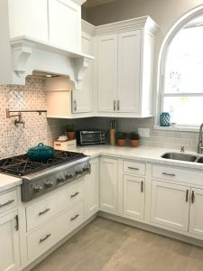 White Kitchen Remodel with Silestone Lusso Quartz and Starmark Cabinets