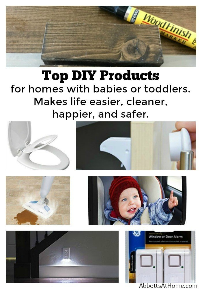 My Top DIY Products for new parents and parents of toddlers. They make life easier, cleaner, happier, and safer. Link Party 30