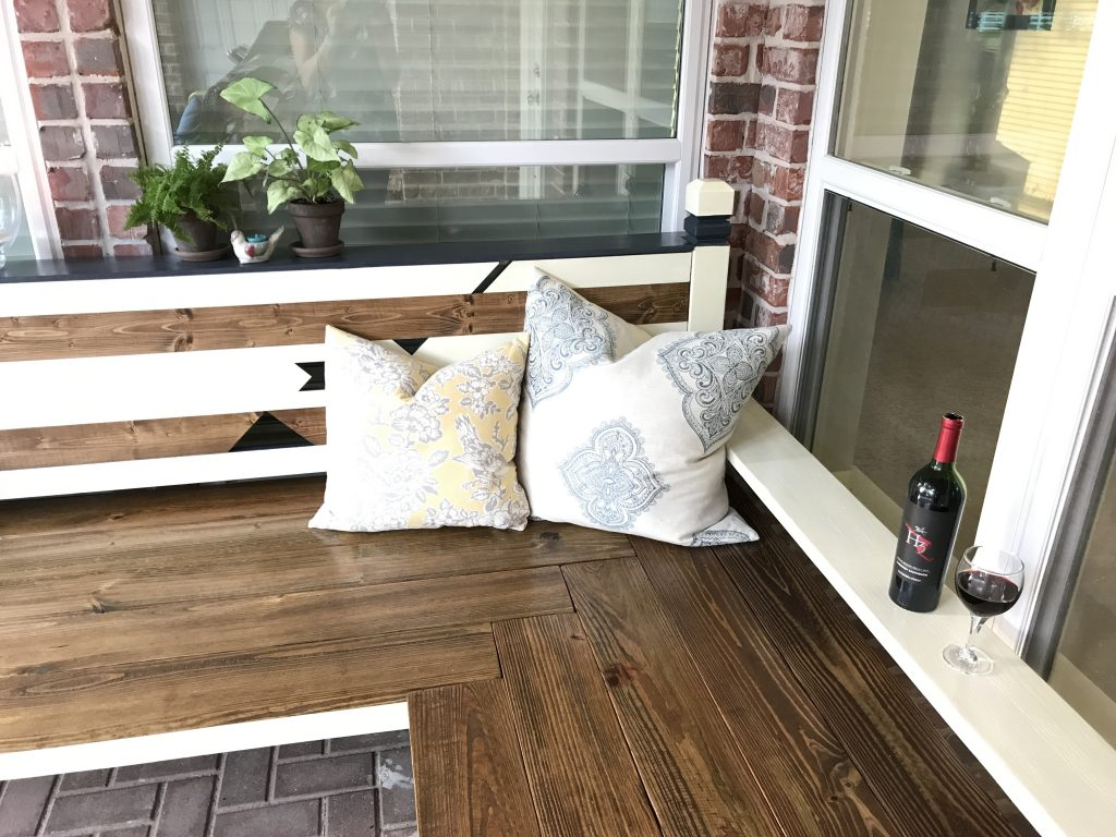 Outdoor Bench DIY post coming this week.