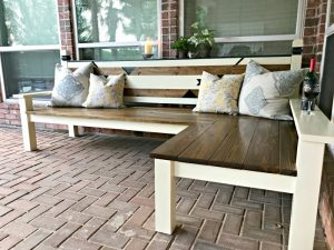 How I built my L-shaped DIY Outdoor Bench for $130, awarded 2nd place in the IG Builders Challenge, season 3