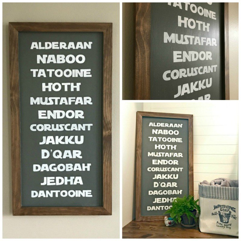 DIY Planets of Star Wars Subway Sign