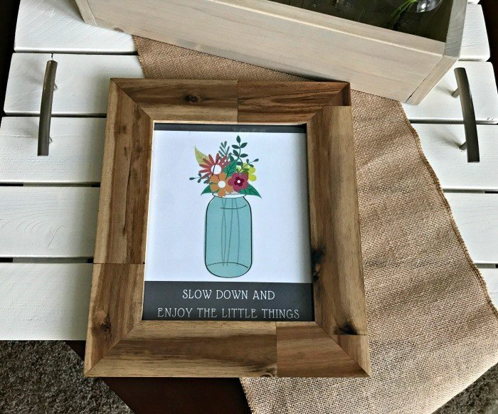 'Enjoy the little things' Mason Jar Printable Art
