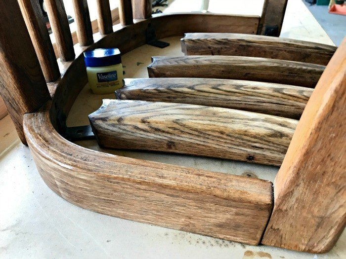 Using Vaseline to distress furniture. Get the DIY Steps and my secret to How to paint and distress furniture perfectly, every time. #Distressing #FurnitureMakeover #ChippyFurniture