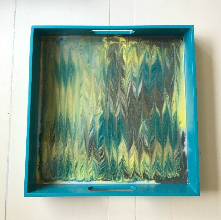 Easy DIY Resin Tray Makeover Tutorial