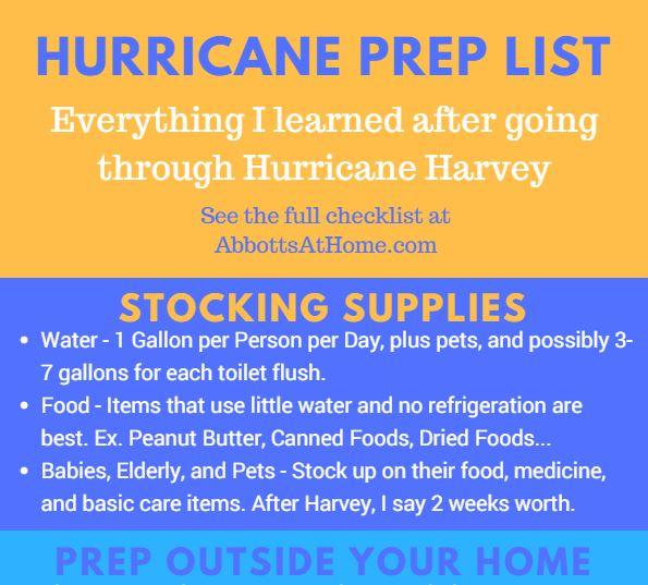 Hurricane Prep List – Stock Up and Prepare Your Home