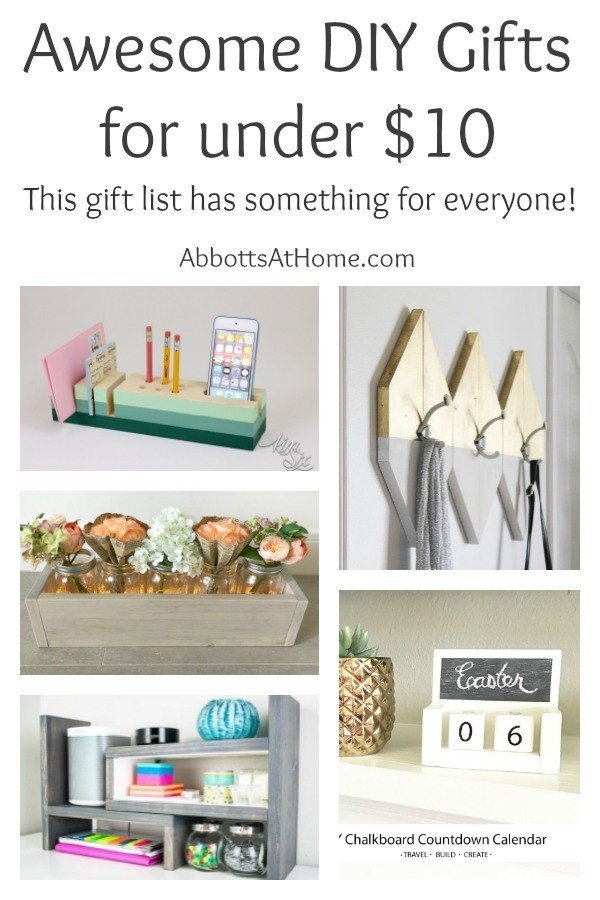 The best DIY gifts for under $10. Perfect for Christmas, birthdays, graduation, Mothers Day, Fathers Day, or any day. #diy #gift #christmas #easydiy