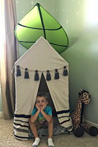 This DIY Kids PVC Pipe Tent is a favorite in our house and the PVC frame is extra sturdy for those active kiddos!