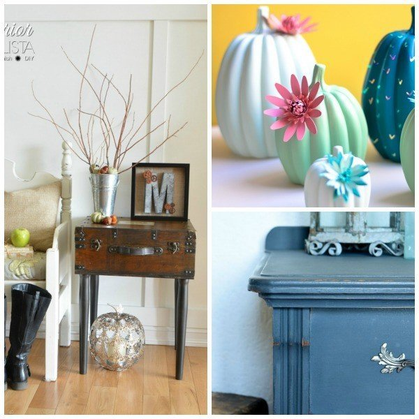Link Party 58! Share your DIY, crafts, home decor, remodeling, and recipes. Featuring Cactus Pumpkin DIY, Orange Dresser Remodel, and a Trunk Table.