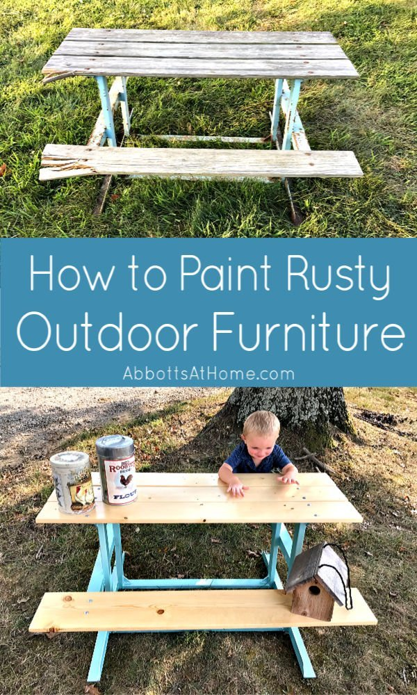Here's the easy to follow steps for How to Paint Rusty Metal Furniture. You can save it from the junk yard and make it beautiful again!