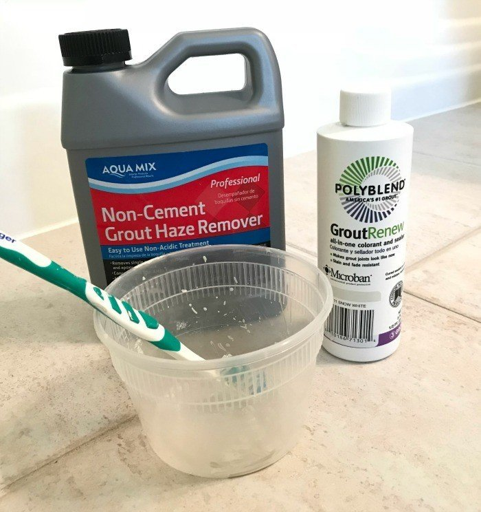 You can restore that grout color without scrubbing. It's really quick and easy. You can even switch to a new grout color, with Grout Renew. My how-to video will show you how easy it is to update your grout color. #cleanGrout #Grout #FixGrout #WhiteGrout