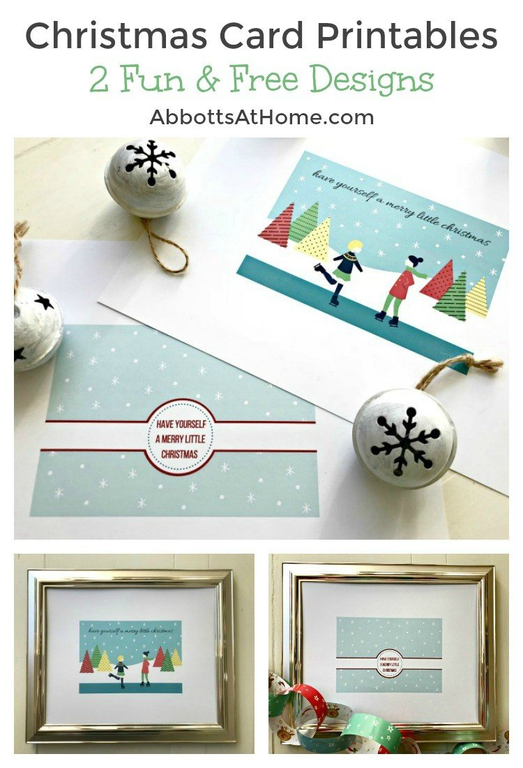 Download both of these fun & free Christmas Card Printables today. Use them as Christmas Card Printables or as Printable Christmas Decor and Wall Art. Have Yourself A Merry Little Christmas Quote. #DIYChristmasCard #ChristmasCardCraft #ChristmasPrintable #MerryLittleChristmas