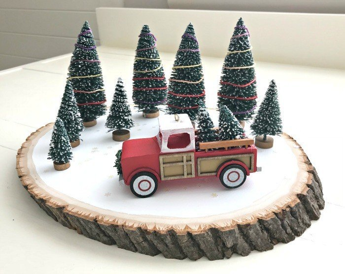 Easy Red Truck Diy Christmas Decor Idea Abbotts At Home