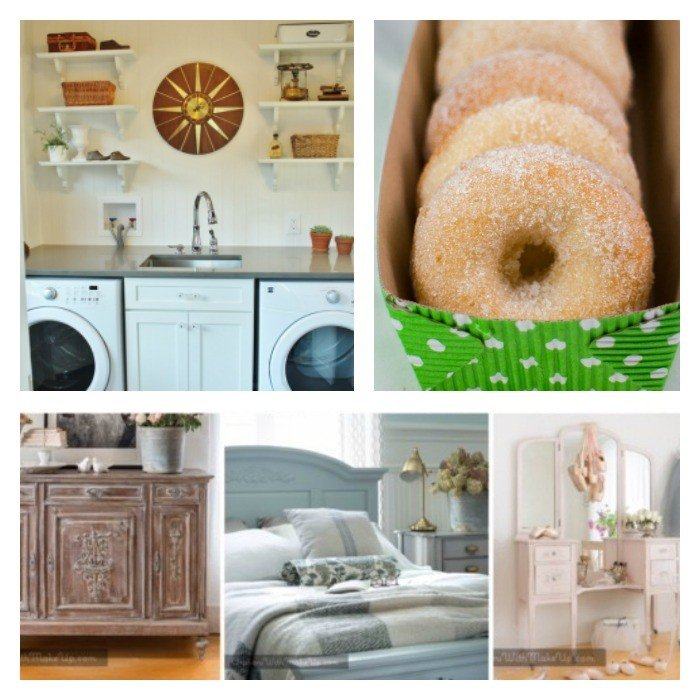 This weeks features: Top 10 Furniture Makeovers of 2017, yummy Baked Sugar Donut Recipe, and a pretty laundry room reveal.