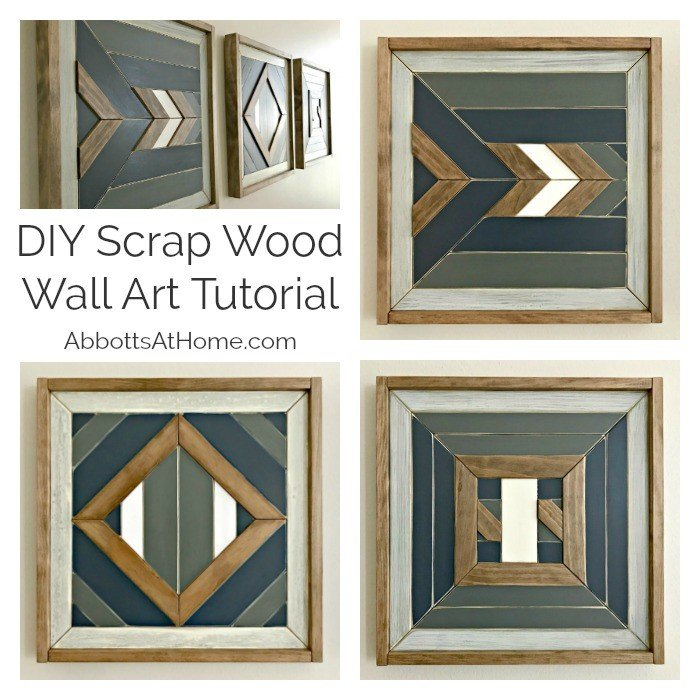 Build your own custom DIY Scrap Wood Wall Art. Works for Barn Quilt, Tribal Art, Boho, Mosaic, geometric wood designs and more. Includes DIY Wood Wall Art Tutorial steps and how-to video!