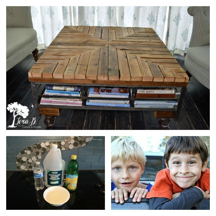 This weeks features: Upcycled Coffee Table, Homemade Kitchen Cleaning Products, and 15 Ways to improve the attention span of boys.