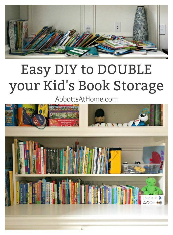 Plywood DIY Kids Book Storage Ideas. Works with Lumber & MDF too. This is a great scrap wood build.