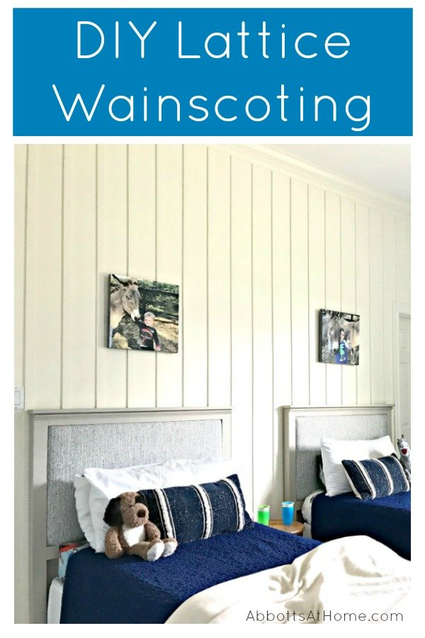 This beautiful DIY Board and Batten Wainscoting has completely updated this bedroom with a new high end designer look. And it was pretty easy. See the full tutorial and DIY tips here. #AbbottsAtHome #Wainscoting #DIYProjects #HomeRemodeling #TraditionalHome #ModernFarmhouse