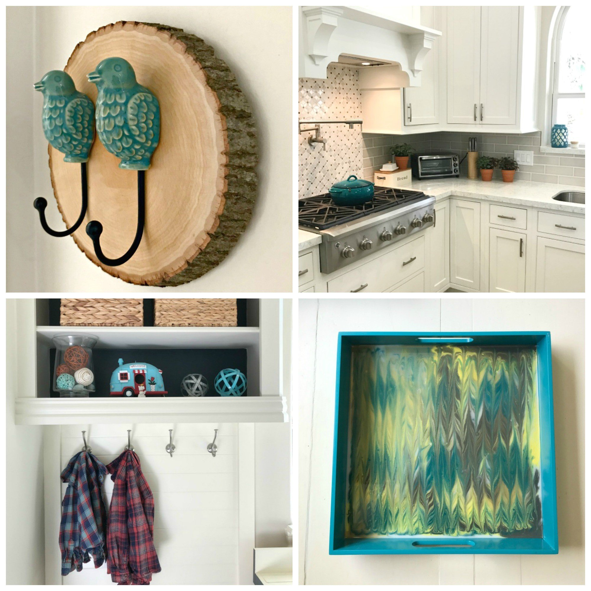 Some of the teal decor and accents I use around my house.