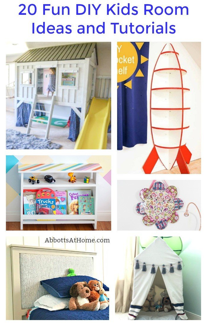 20 Fun DIY Kids Room Ideas and Tutorials - Abbotts At Home