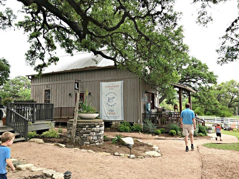 Outside Townsend in Round Top Texas. The Spring and Fall Round Top Texas Antiques and Flea Markets are great! BUT you can find Fun, Art & Furniture Shopping in Round Top, Texas year round, guys! Check out photos from the shops in town. #RoundTop #TexasTravel #AbbottsAtHome