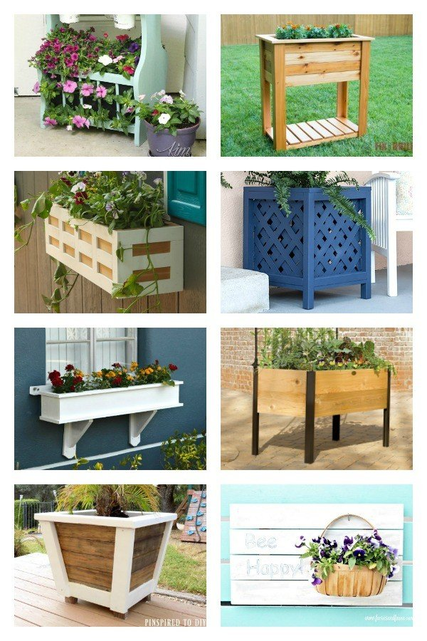30+ beautiful outdoor planter ideas for your porch, deck, or yard you can DIY, Upcycle, or Buy today.  Add curb appeal with these DIY outdoor planters and my favorite planters from Amazon.