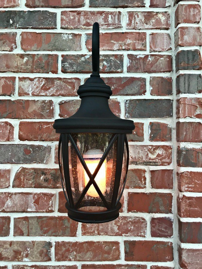 Easy LED Gaslight Light Bulb Front Porch Makeover