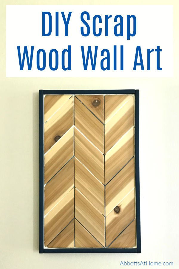 How to build this fun and easy DIY Chevron Wood Wall Art for less than $20. Scrap Wood woodworking idea. Scrap wood wall art idea.