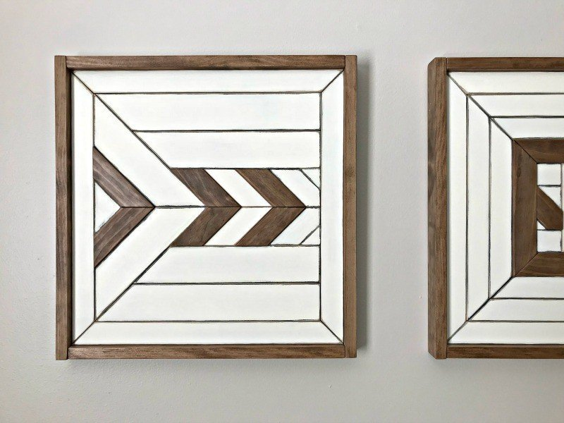 DIY Scrap Wood Wall Art Paint Makeover