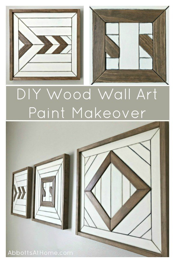 Try this quick and easy DIY scrap wood wall art paint makeover on old and new woodworking art. Includes paint steps and wall art build info. #AbbottsAtHome #ScrapWood #WoodWallArt #WoodworkingIdeas #WoodworkingProjects #DIYProjects #DIYWallArt #WoodArt