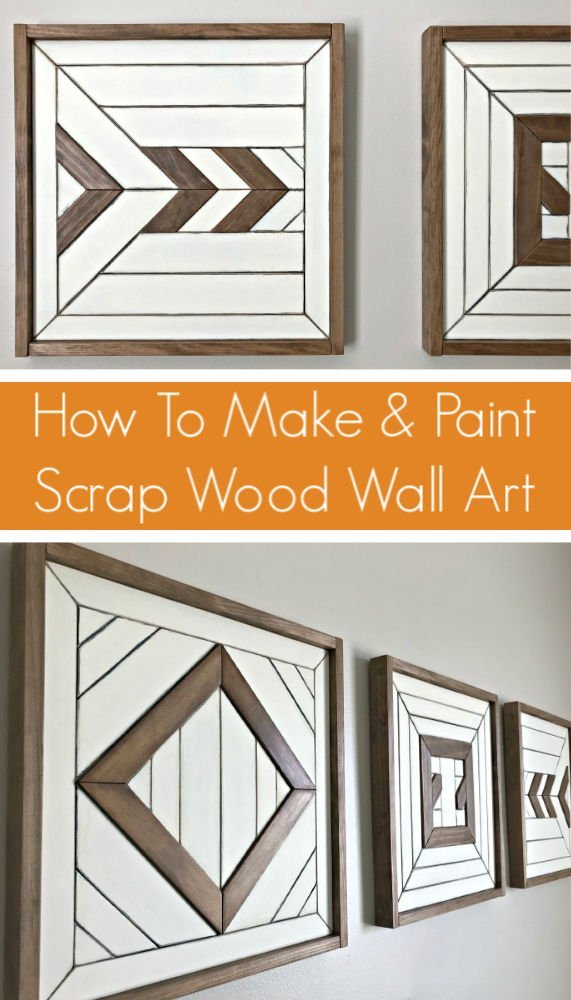 How to Make and Paint your own custom Scrap Wood Wall Art. Here are my steps to design and build wooden wall art and paint it to match any room and style.