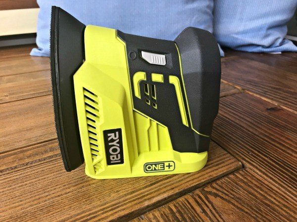 My new Ryobi One+ Sander ready to work,