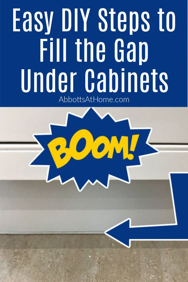 How to Fill the Gap Between Cabinets and Floor in your Kitchen, Bathroom, or Laundry Room with Caulk.
