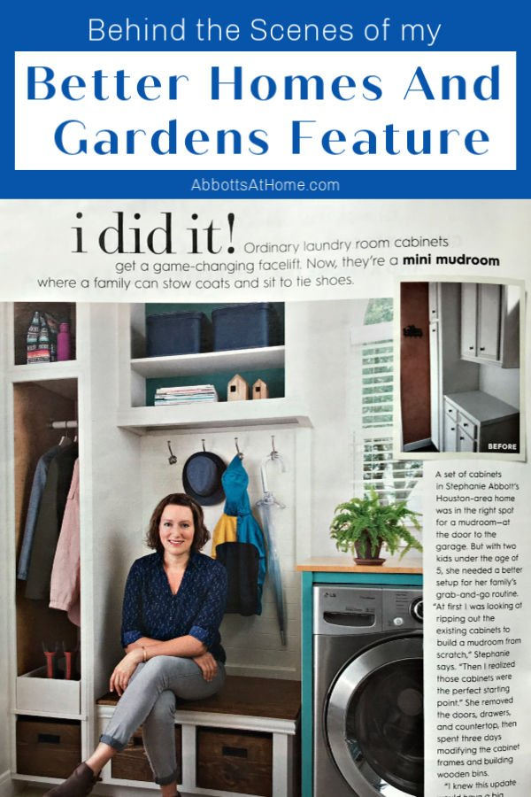 Here's what it was like having my home in a Better Homes and Gardens DIY Feature, including how they found me and what the photo shoot was like.