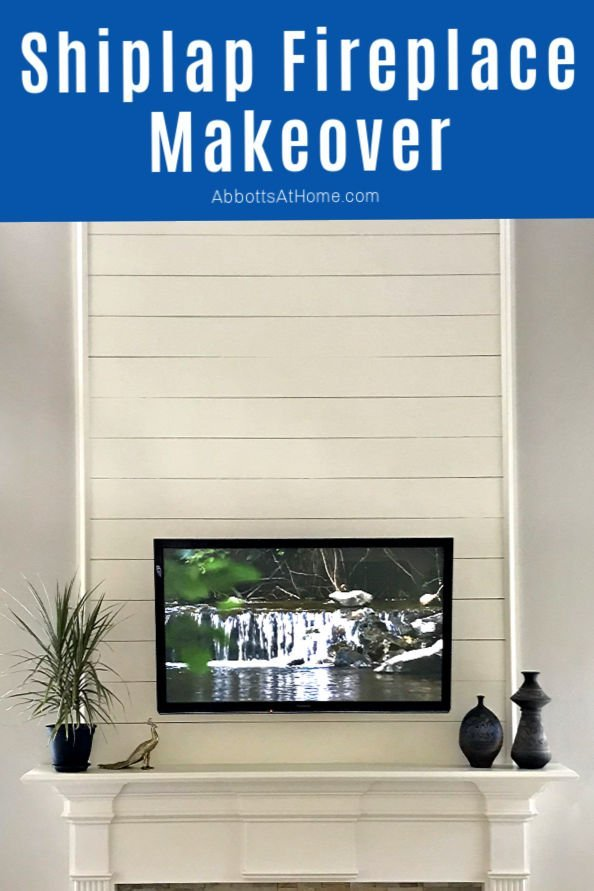 Here's all the details behind our beautiful Shiplap Fireplace Makeover. How it was made and why it was a near fail, guys. It's all about material choices.