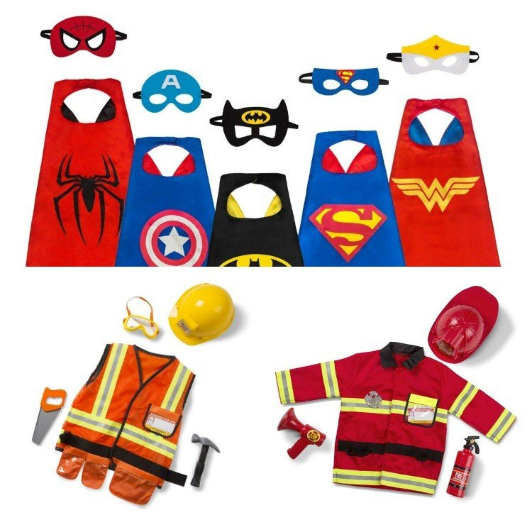 Costumes! Here's my big list of Best Toy Gifts for Little Boys. These are the toys my kids actually play with, all the time. Includes small gifts, science kits, art supplies, trucks, and outdoor toys. Plus, 5 toy gift fails. #AbbottsAtHome #BestToys #KidsToys #GiftIdeas #BestGifts #Christmas #Birthday
