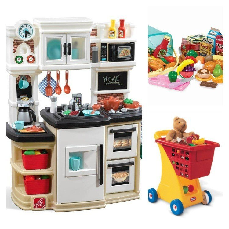 Play Kitchen! Here's my big list of Best Toy Gifts for Little Boys. These are the toys my kids actually play with, all the time. Includes small gifts, science kits, art supplies, trucks, and outdoor toys. Plus, 5 toy gift fails. #AbbottsAtHome #BestToys #KidsToys #GiftIdeas #BestGifts #Christmas #Birthday