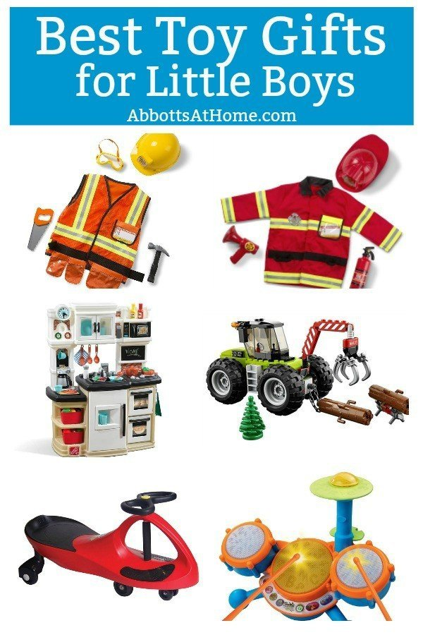 Here's my big list of Best Toy Gifts for Little Boys. These are the toys my kids actually play with, all the time. Includes small gifts, science kits, art supplies, trucks, and outdoor toys. Plus, 5 toy gift fails. #AbbottsAtHome #BestToys #KidsToys #GiftIdeas #BestGifts #GiftGuide