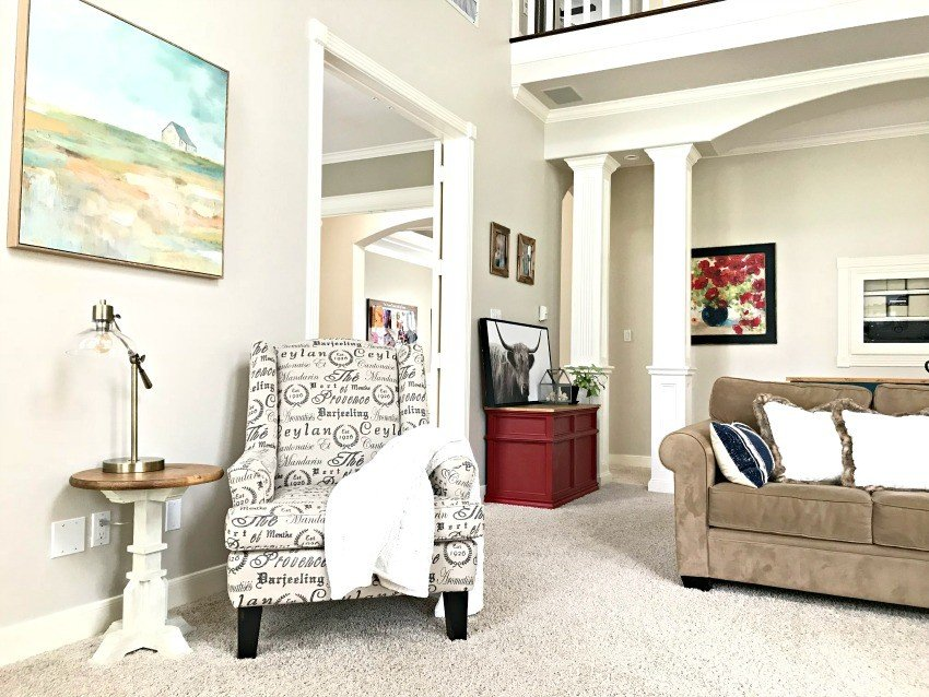 Colorful Modern Farmhouse Living Room Makeover Abbotts At Home