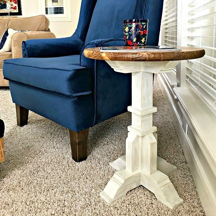 DIY Pedestal Accent Table Plans – $50 Build