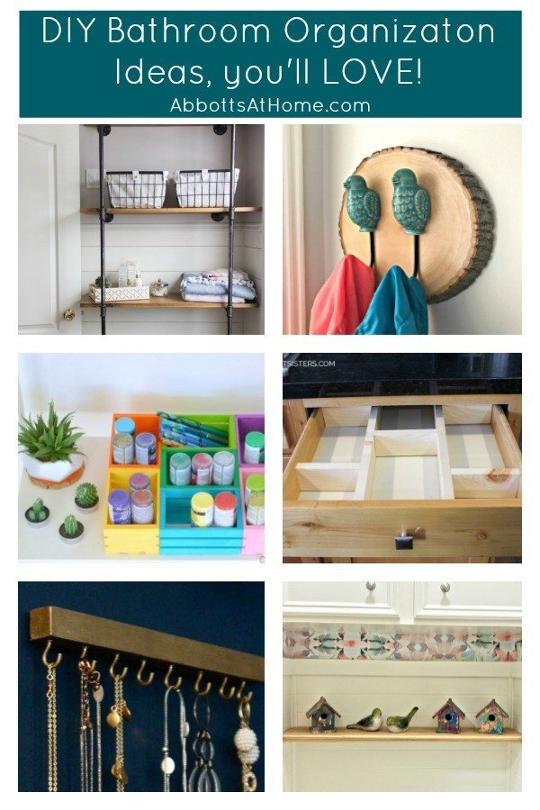 Here's a look at some of the Best DIY Bathroom Organization Ideas I've found in 2019. #BathroomIdeas #Organization #DIYIdeas #DIYProjects #AbbottsAtHome