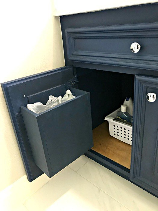 Diy Cabinet Door Mounted Garbage Can