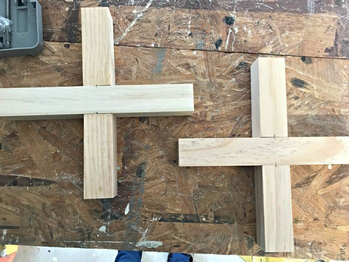 2 X frame bases built from 2x2 Select Pine dimensional lumber.