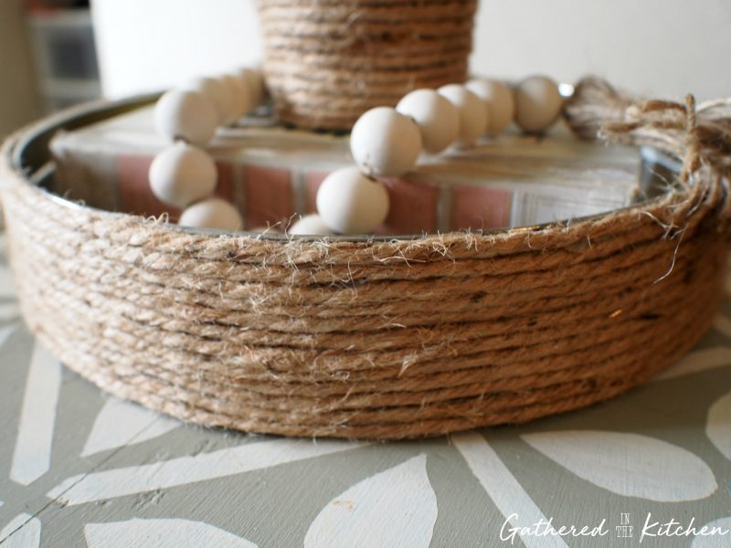 Best DIY Upcycle Idea - Jute Rope Tray Makeover