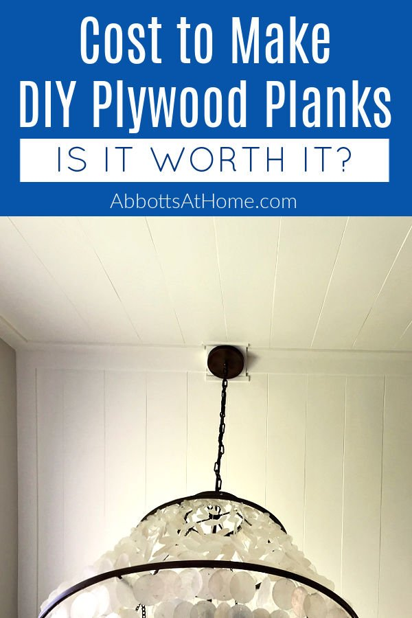 This DIY Plywood Plank Ceiling Install is a pretty cross between shiplap and v-groove panels. Here's what it cost with the build steps and how-to video.