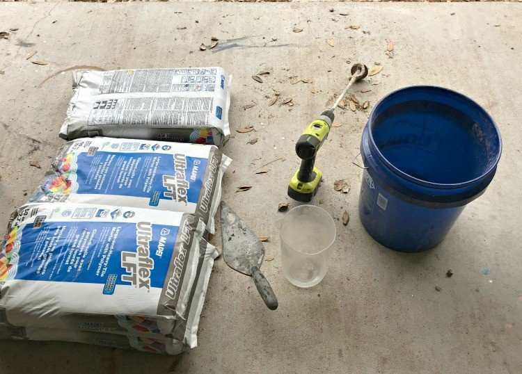 Prepping the floor before laying tile is an important first step, you shouldn't mess up! Here are my DIY Tips for Installing Floor Tile Faster and Better. #AbbottsAtHome #DIYTile #DIYBathroom #BathroomRemodel