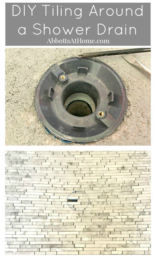 Here are few tips to remember before tiling a shower floor. DIY Tile around shower drain - shower drain tiling DIY - how to tile around a shower drain #AbbottsAtHome #Shower #ShowerTile #ShowerDrain