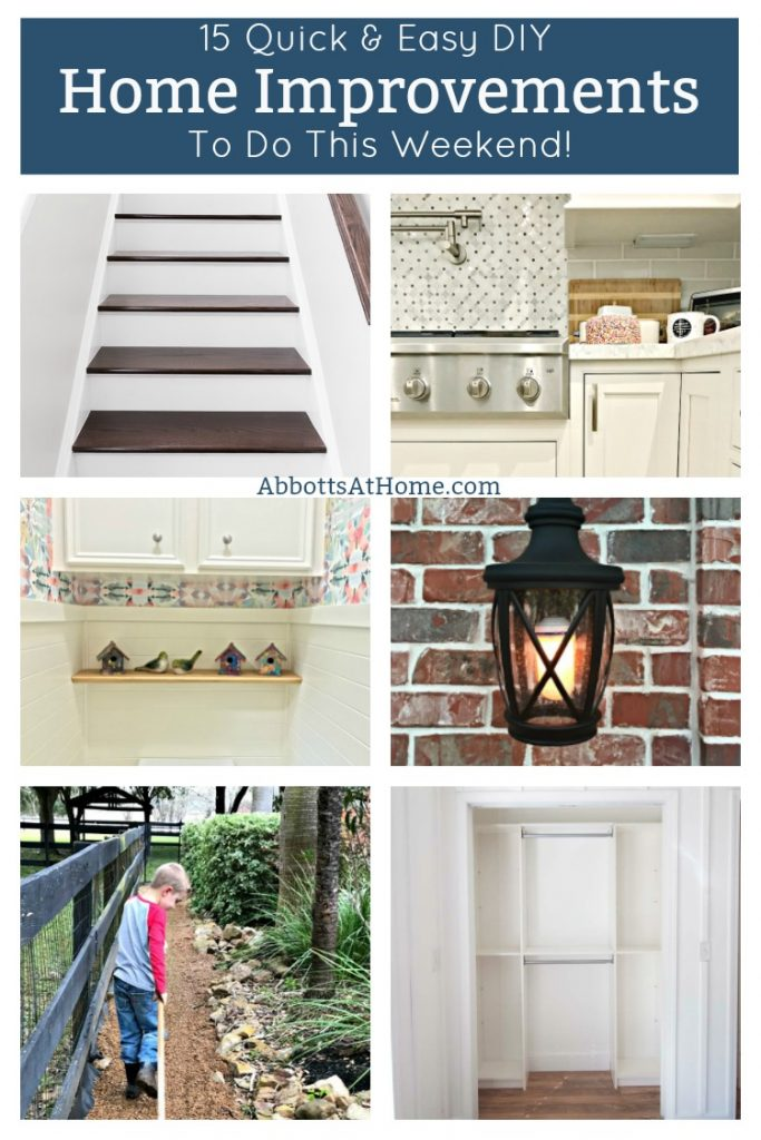 If you're looking for some quick wins around the house this weekend, then I've got them. Here are some of my favorite quick and easy home improvements. #AbbottsAtHome #HomeImprovement #DIY #HomeImprovements #EasyDIY