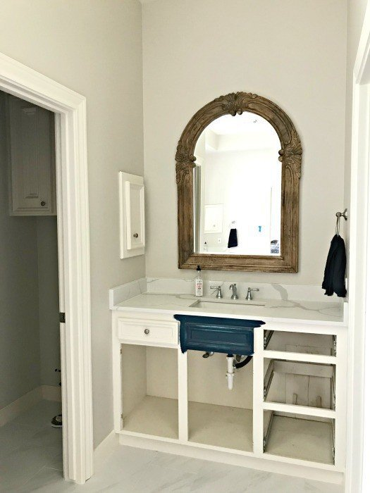 The latest master bathroom remodeling pictures and project updates. It's looking beautiful already. Yay! #AbbottsAtHome #BathroomRemodel #MarbleTile #WhiteBathroom #Carerra #MarbleBathroom